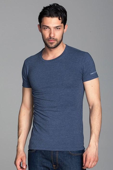 Enrico Coveri Pánské italské tričko Enrico Coveri 1504 modrá M