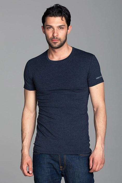 Enrico Coveri Pánské italské tričko Enrico Coveri 1504 tmavěmodrá M