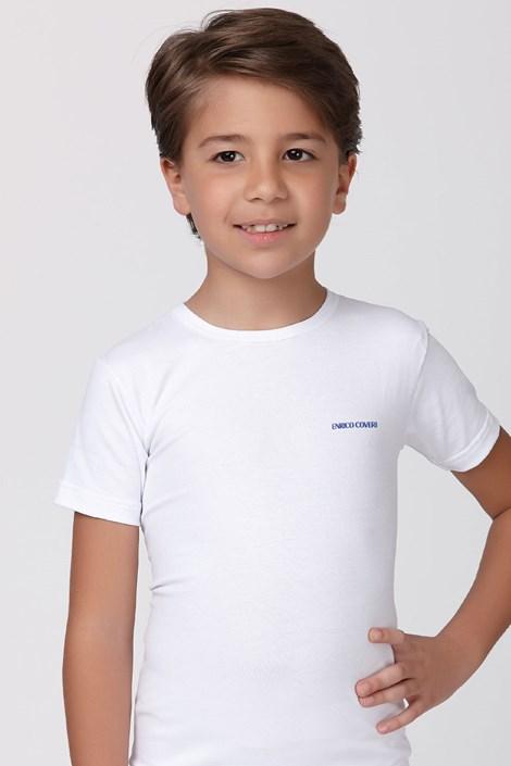 Enrico Coveri Chlapecké tričko basic bílé bílá 9/10