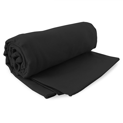 DECOKING Sada rychlechnoucích ručníků Ekea černá cerna 30,70