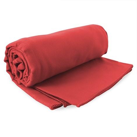 DECOKING Rychleschnoucí osuška Ekea červená cervena 100x200
