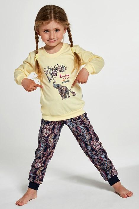 Pijama elephants, pentru fetite