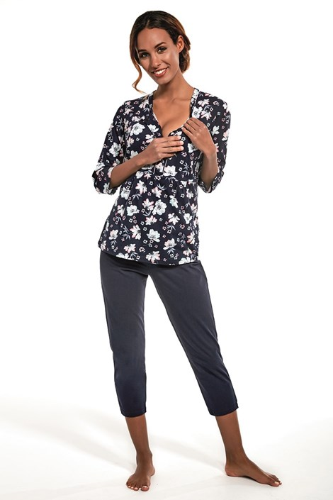 Cornette Dámské pyžamo Ellen nám.modrá XL
