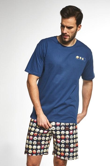 Cornette Pánské pyžamo Emoticon modrá XXL