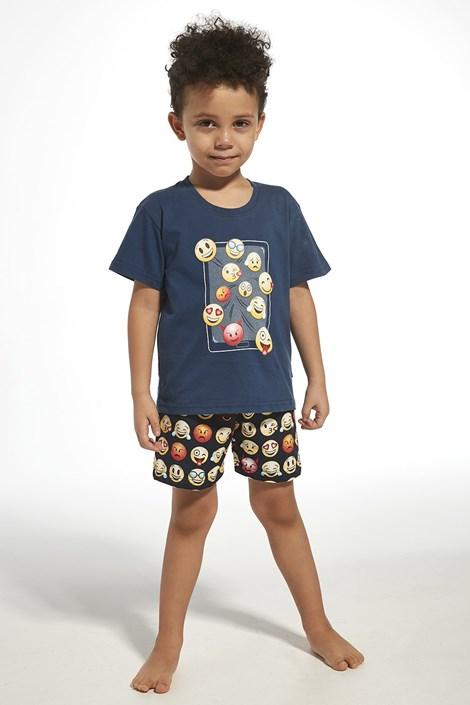 Cornette Chlapecké pyžamo Emoticon modrá 98/104