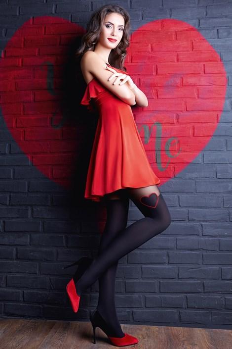 Giulia Punčochové kalhoty Enjoy Love černá S