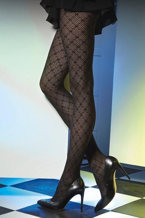 Gatta Vzorované punčochové kalhoty Est Belle 01 50 DEN černá S