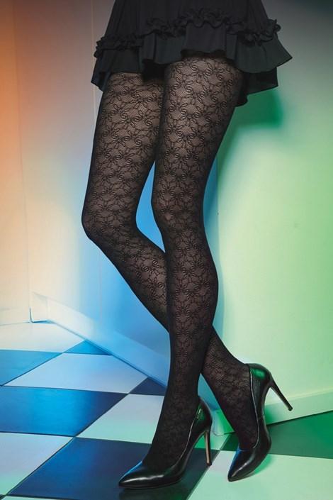 Gatta Vzorované punčochové kalhoty Est Belle 03 50 DEN černá S
