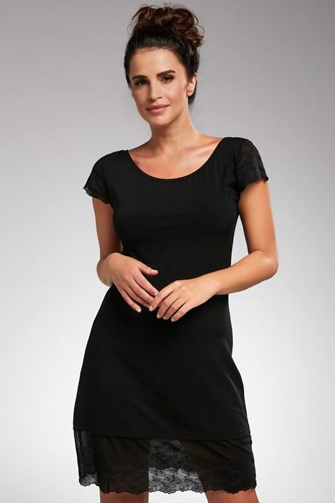 Cornette Dámská noční košilka Estelle černá černá XXL