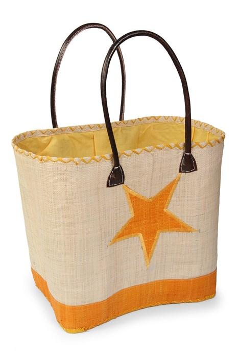 Le Comptoir De La Plage Velká plážová taška Estrella žlutá uni