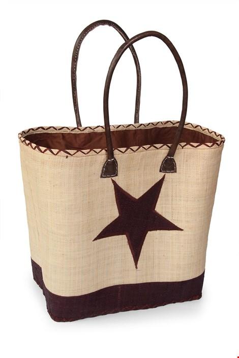 Le Comptoir De La Plage Velká plážová taška Estrella hnědá uni