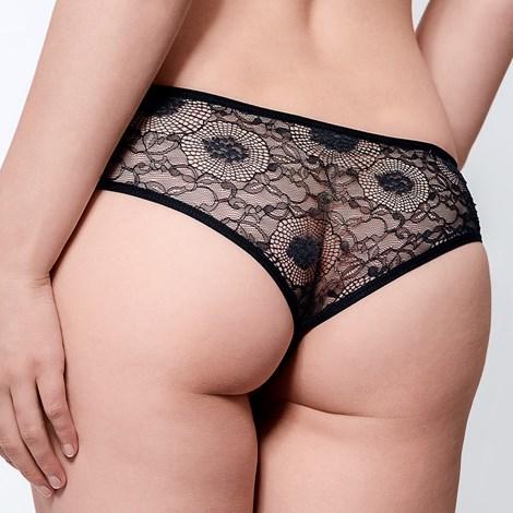 Babell Krajkové kalhotky Heather černá XL