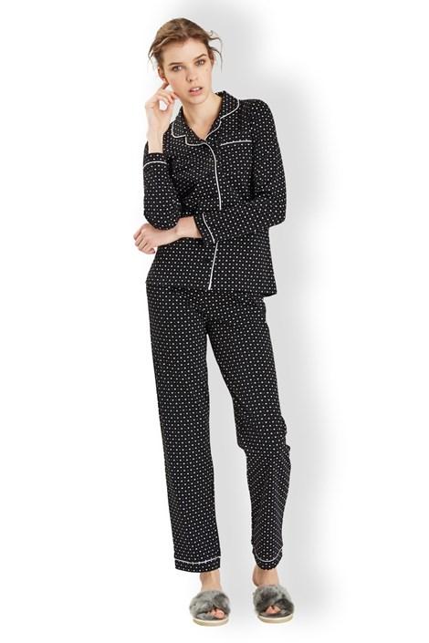 Noidinotte Dámské italské pyžamo Hearts black černá S