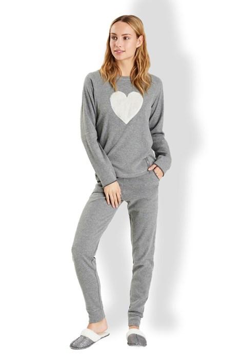 Noidinotte Dámské italské pyžamo Love šedá XL