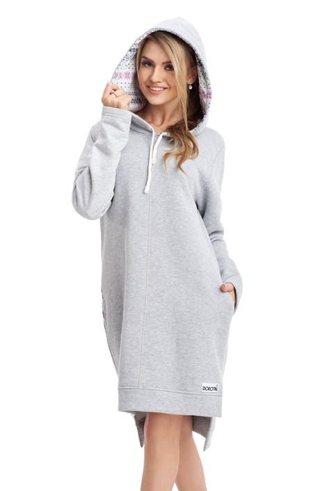 Dorota Domácí mikinové šaty Lisa melange L