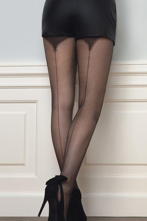 Gatta Vzorované punčochové kalhoty Fancy11 20 DEN černá L