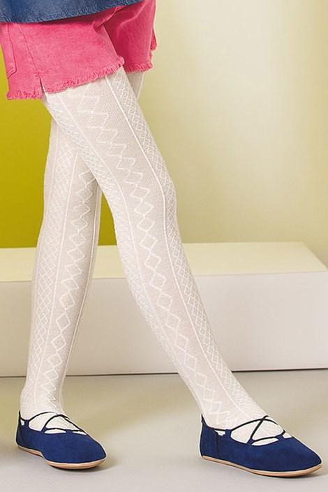 Gabriella Dívčí punčochové kalhoty Fifi bianco 150-158