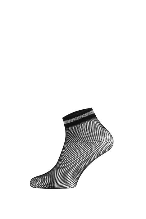 Gatta Síťované ponožky Fishnet III černostříbrná uni