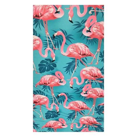 Mora Mora Plážová osuška Flamingos barevna 100x170