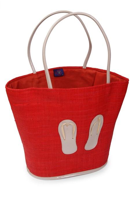 Le Comptoir De La Plage Velká plážová taška Flip Flop červená uni