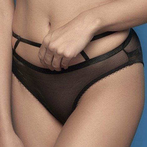 Perilla Kalhotky Perilla Floral Black klasické černá S