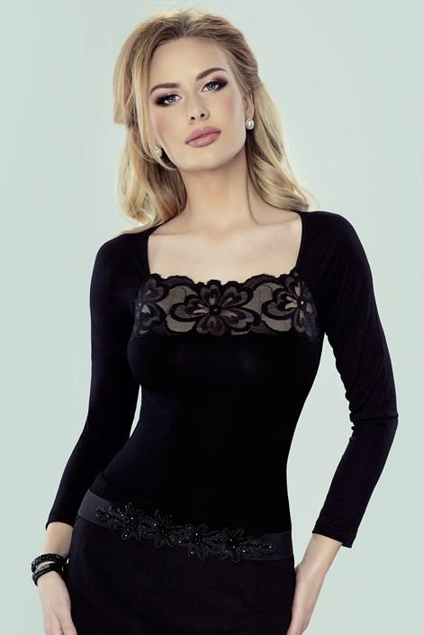 Eldar Dámské elegantní tričko Flover černá XL