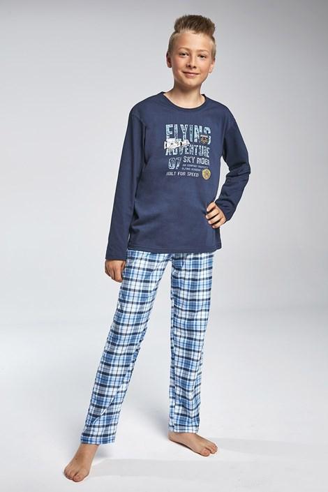 Cornette Chlapecké pyžamo Cornette Flying modrá 134/140