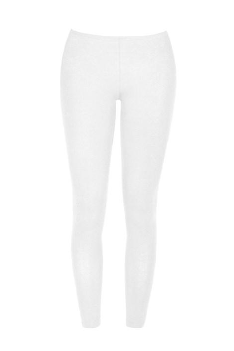 COTONELLA Dámské bavlněné legíny Odette bílá XL
