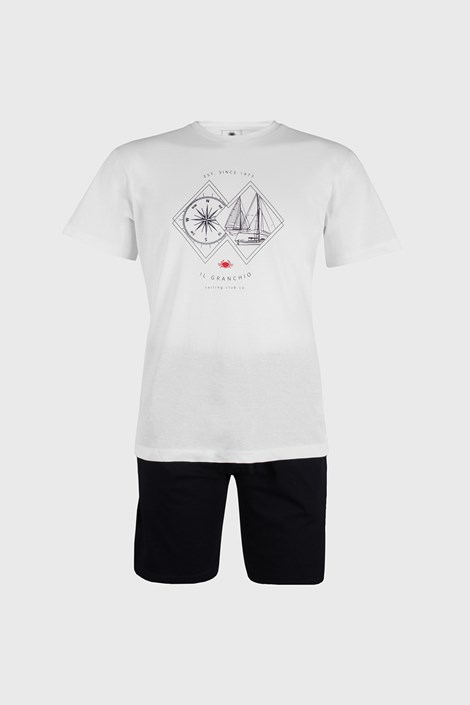 Bílé pyžamo Sailing