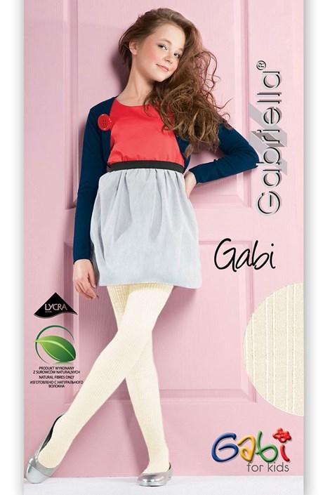 Gabriella Dívčí punčochové kalhoty Gabi ecri 128-134