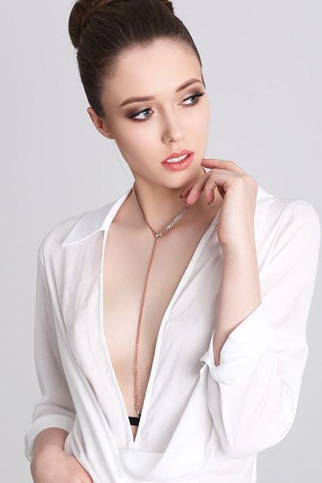 Promees Ozdobná ramínka s náhrdelníkem Glam Pink černorůžová uni