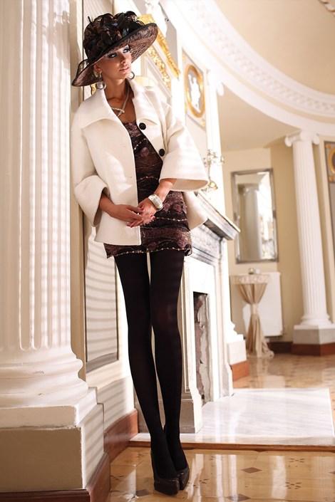 Ballerina Elegantní punčochové kalhoty Glamour Soft Black černá S/M