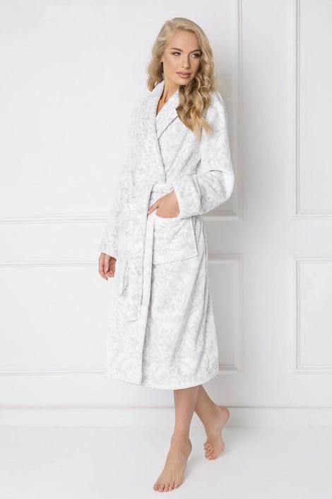 Aruelle Dámský župan Glamour šedobílá XL