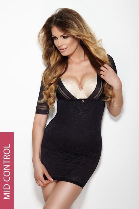 Mitex Stahovací šaty Glossy černé černá XL