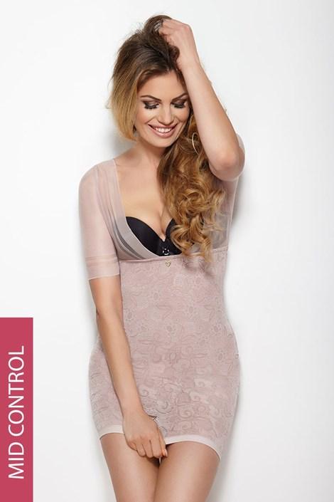 Mitex Stahovací šaty Glossy růžová XXL