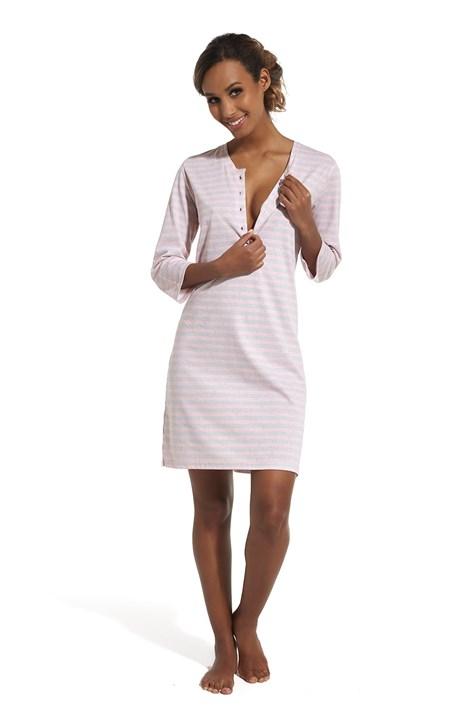 Cornette Dámská noční košile Grace růžovošedá XL
