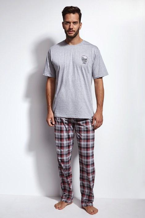 Cornette Pánské pyžamo CORNETTE Great Outdoor šedá XL