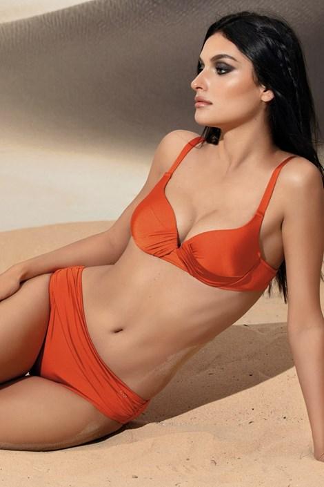 Linea Sprint Dámské dvoudílné plavky Beatrice oranžová 80/C