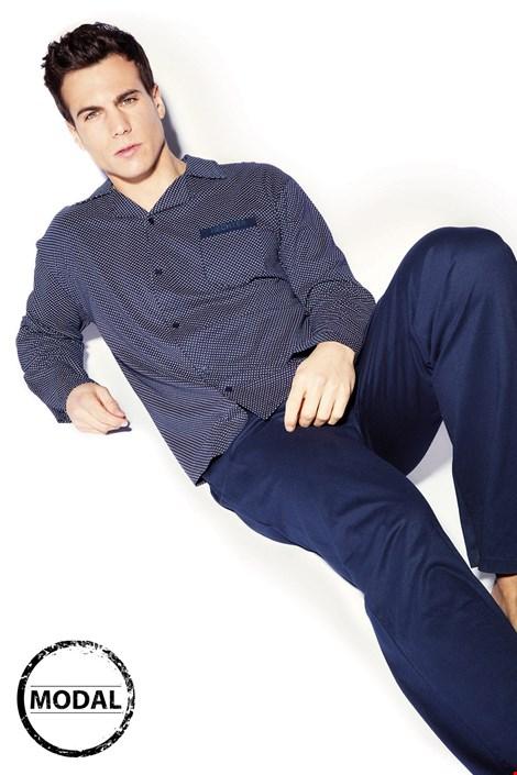 Hechter Pánské pyžamo HECHTER Maxime modrá XL