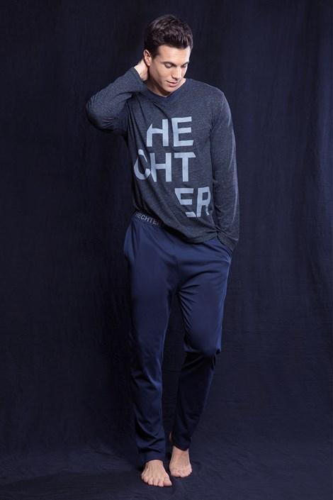 Hechter Pánské pyžamo HECHTER Fusio šedomodrá XXL