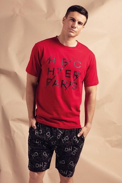 Hechter Pánské pyžamo Gift krátké červená M