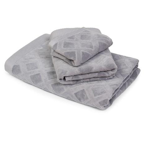 Bahar Velký ručník Charles šedý seda 50x90