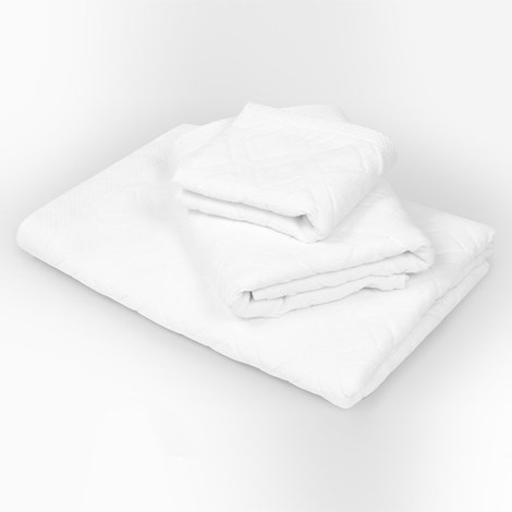 Bahar Velký ručník Charles bílý bila 50x90