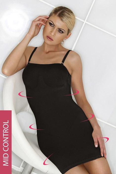 Hanna Style Stahovací šaty Hanna 6722-MicroClima černá L