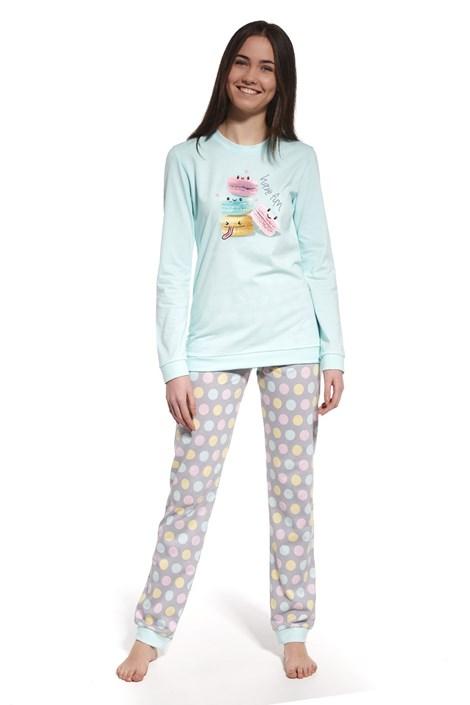 Cornette Dívčí pyžamo Have fun šedozelená L