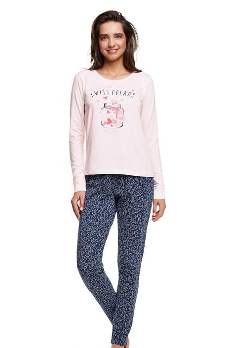 Henderson Dámské bavlněné pyžamo Hearty růžová S