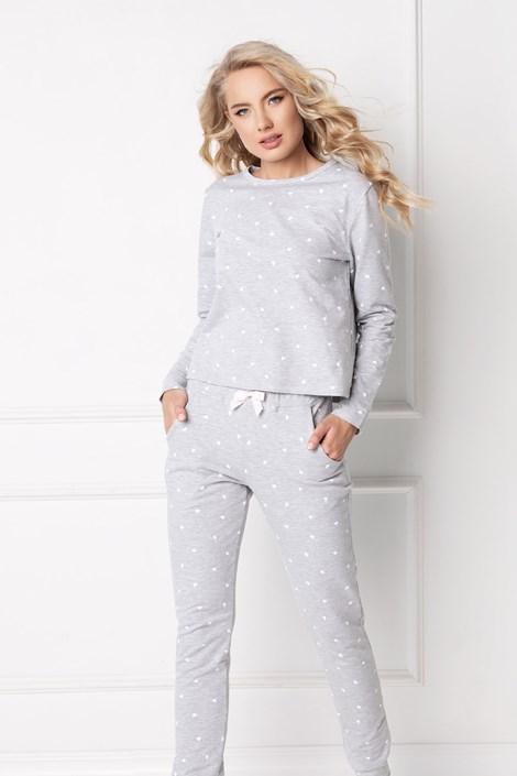 Aruelle Dámský domácí komplet Hearty šedý šedá XL