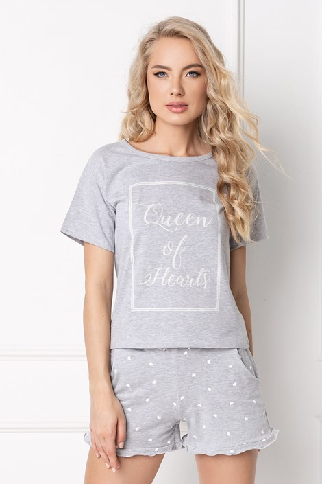 Aruelle Dámské pyžamo Hearty šedá XL