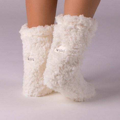 Dámské hřejivé ponožky Hello Ecru