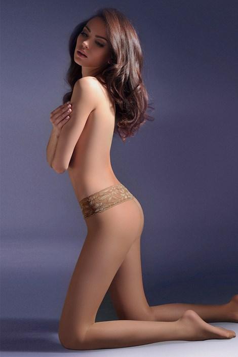 Gabriella Bokové punčochové kalhoty Exclusiv 20 DEN béžová 4
